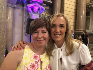 Debbie Ryan with Tracey Neville